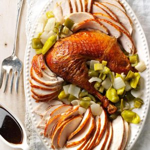 Creole Roasted Turkey with Holy Trinity Stuffing