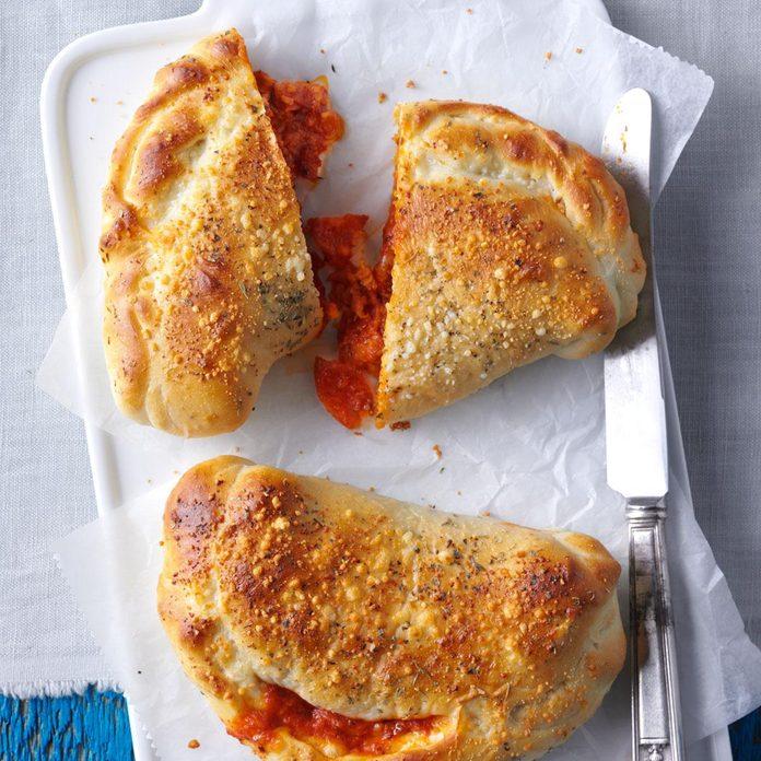 Quick Pepperoni Calzones