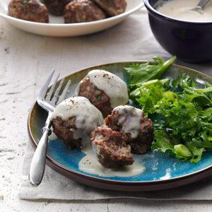 Danish Meatballs with Pan Gravy
