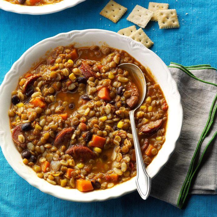 Southwest Barley & Lentil Soup