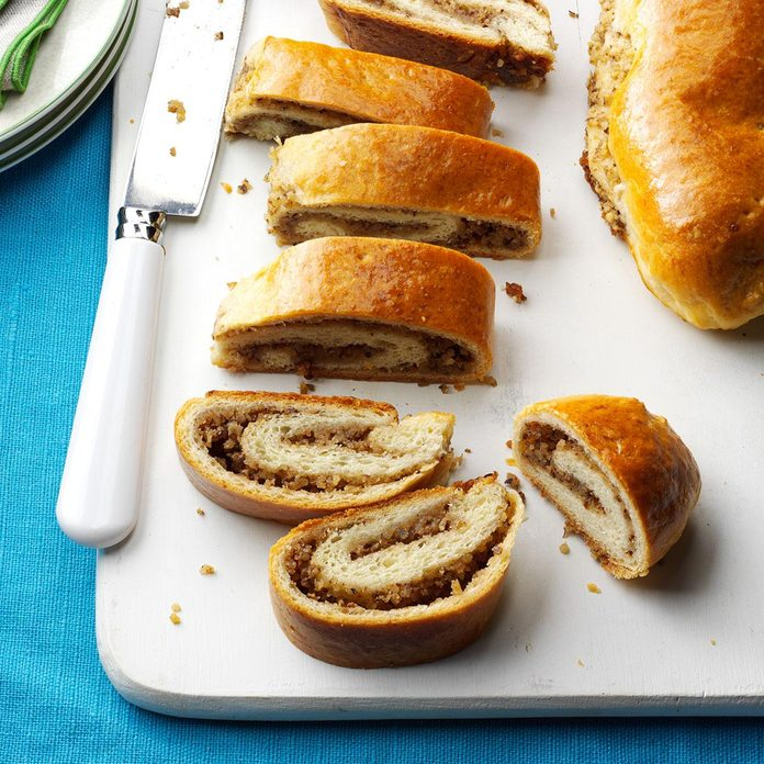 Sour Cream Rolls with Walnut Filling