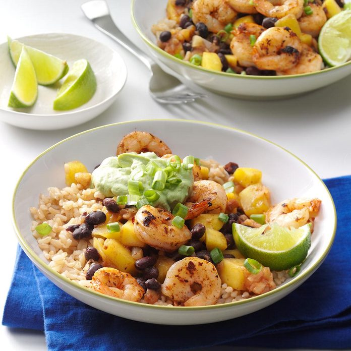 Caribbean Shrimp & Rice Bowl