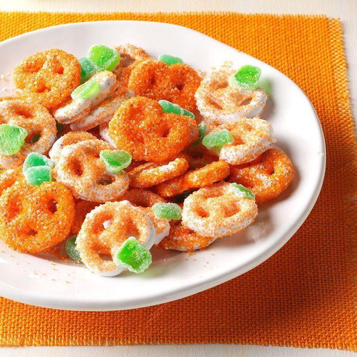 Sweet Treat: Mini Pretzel Pumpkins
