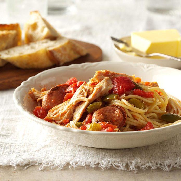 Grandma's Cajun Chicken & Spaghetti