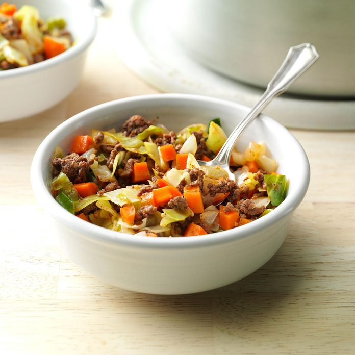 Saucy Beef & Cabbage Supper