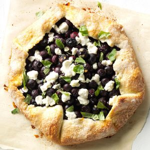 Blueberry, Basil and Goat Cheese Pie