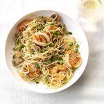 Sauteed Scallops & Shrimp Pasta
