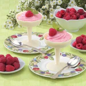 Raspberry Mousse In Chocolate Cups
