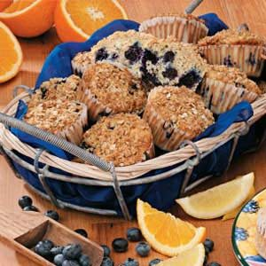 Lemon-Blueberry Oat Muffins