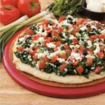 Four-Cheese Spinach Pizza