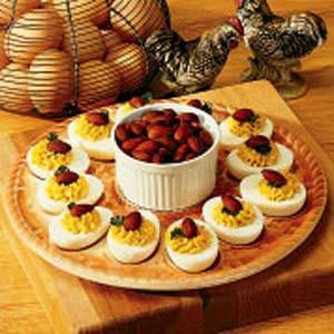 Almond Deviled Eggs