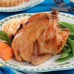 Apricot-Glazed Cornish Hens for Two