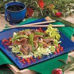 Stir-Fried Beef on Lettuce
