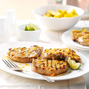 Lime-Glazed Pork Chops