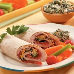 Avocado Turkey Wraps