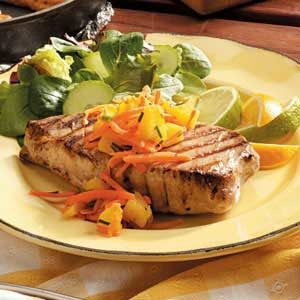 Tuna Steaks with Salsa