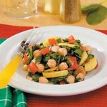Spinach and Garbanzo Skillet
