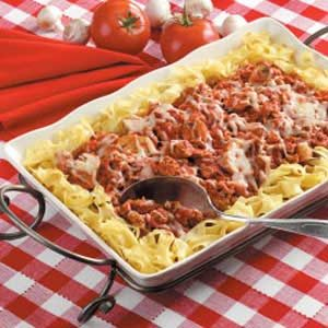 Italian Turkey and Noodles