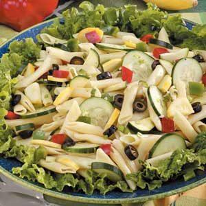 Mostaccioli Veggie Salad