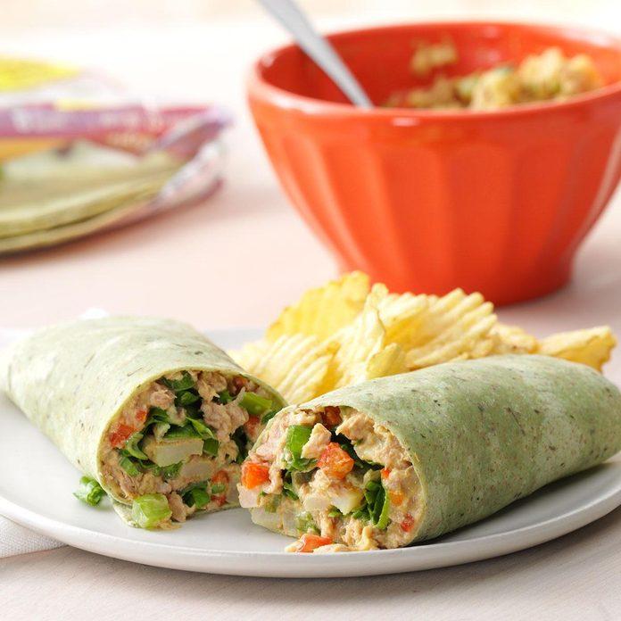 Monday: Crunchy Tuna Wraps