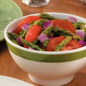Spring Asparagus Tomato Salad