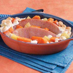 Sweet Potato Ham Casserole