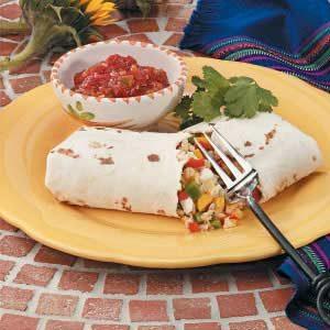 Sweet Pepper Burritos for 2