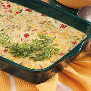Three-Pepper Corn Pudding