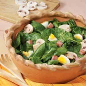 Warm Ham 'n' Spinach Salad