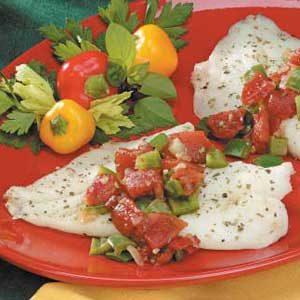 Herbed Tomato Fish Bake