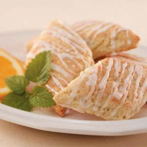 Coconut-Glazed Orange Scones