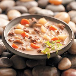Easy Beef Barley Soup