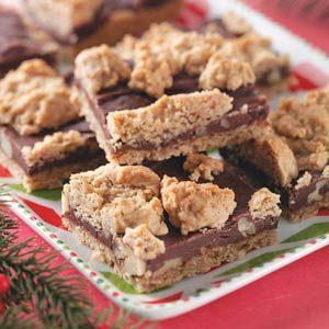 Fudge-Nut Oatmeal Bars