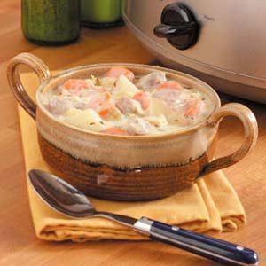 Creamy Cabbage-Pork Stew