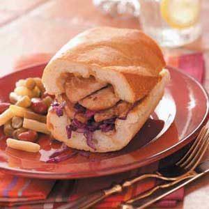 Pork Cabbage Sandwiches