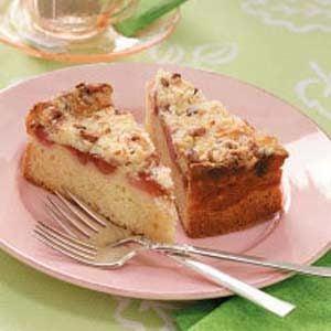 Rhubarb-Ribbon Brunch Cake