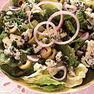 Mixed Greens with Blue Cheese Dressing