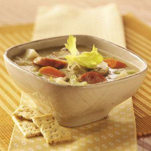 Sauerkraut Sausage Soup