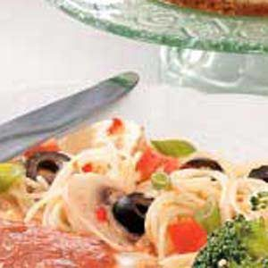 Spaghetti Salad with Italian Dressing