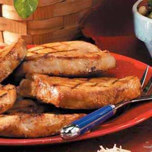 Grilled Lemon Pork Chops