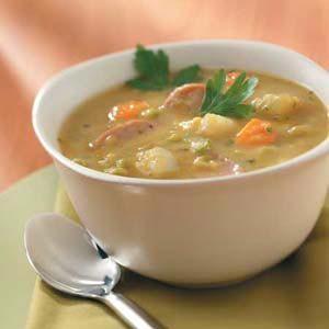Kielbasa Split Pea Soup