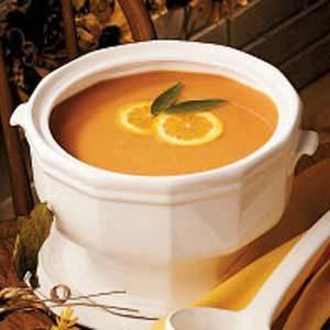 Herbed Golden Squash Soup