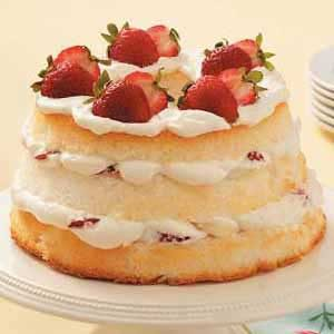 Strawberry-Banana Angel Torte