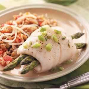 Asparagus Fish Bundles