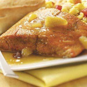 Salmon with Curry Chutney Sauce
