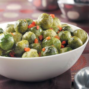 Pimiento Brussels Sprouts