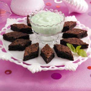 Mint Dip with Brownies