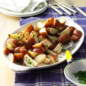 Simple Lemon Parsley Potatoes