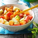 Melon with Serrano-Mint Syrup