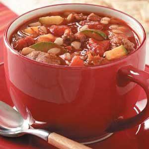 Zucchini Sausage Soup